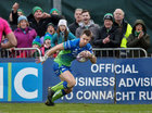Connacht vs Brive European Rugby Challenge Cup Round 4 game at the Sportsground.<br /> Matt Healy on way to scoring Connacht's first try