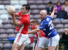 Tuam Stars v Killannin Senior Football Championship game at the Pearse Stadium.<br /> Noel Henry, Tuam Stars, and David O'Connor, Killannin