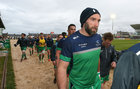 Connacht v Leinster Guinness PRO12 game at the Sportsground.<br /> John Muldoon after the team warm-up before his 300th appearance for Connacht