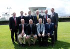 The Galway Race Committee pictured ahead of this week's Galway Summer Festival. Front row, from left: Peter Allen, Tim Naughton, Chairman, Terry Cunningham, Vice Chairman, and Joe Higgins. Standing:John Moloney, Manager; Dr Conal Kavanagh, Tom McDonogh, Anthony Ryan, John Coyle and Dr Colm O'Flaherty.