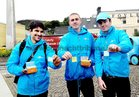 <br /> Mario Ilha, Philip Noone, Matthew Cahill, at the launch of Galways Anti Gum LItter  Awareness Programme, at the Square Clifden