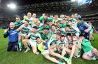 Oughterard v Magheracloone AIB GAA Football All-Ireland Intermediate Club Football Championship Final at Croke Park.<br /> Oughterard celebrate