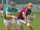 Galway v Offaly Allianz Hurling League Division 1B game at O'Connor Park, Tullamore.<br /> Galway's Davey Glennon and Offaly's Aidan Treacy