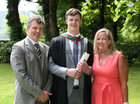 Dr. Eoin Casserly from Limerick, who was conferred with the degrees of M.B. B.Ch. B.A.O., Honours, at NUI Galway, pictured with his parents Liam Casserly and Rosemarie Walsh, who comes from Oughterard.