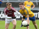 Galway v Roscommon Minor Football semi-final at the Pearse Stadium.<br /> Ganlway's Darragh Silke and Roscommon's Oisin Lennon