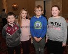 <br /> The Gurteen National School team, Henry Mitchell, Emma Ruane, Fergus Roberts and Alma Hynes,  at the Credit Union National Schools Table Quiz in the Galway Bay Hotel, Salthill.