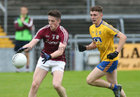 Galway v Roscommon Minor Football semi-final at the Pearse Stadium.<br /> Galway's Matthias Barrett and Roscommon's Oisin Lennon