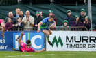 Connacht vs Brive European Rugby Challenge Cup Round 4 game at the Sportsground.<br /> Matt Healy evades Arnaud Mignardi on way to scoring Connacht's first try