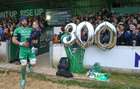 Connacht v Leinster Guinness PRO12 game at the Sportsground.<br /> Connacht captain John Muldoon carries his niece, 4 years old Emma Muldoon from Gortanumera, before the start of his 300th game for Connacht at the Sportsground last Saturday.