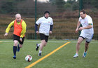 Get Abberton, Ronnie Crowe and T J Redmond in action during the annual COPE Galway charity match.<br /> <br />