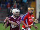 <br />  Clarinbridge's, Paul Coen,<br />  and<br />  St. Thomas, Justin Kelly,<br />  during the Senior Hurling Championship at Athenry.<br />