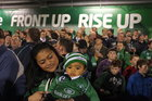 Bella Ah You, wife of Connacht player Rodney Ah You, with their 7 months old son Zephaniah at Saturday evening's Heineken Cup game against Toulouse at the Sportsground.
