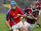 Clarinbridge's, Eanna Murphy,<br />  and<br />  St. Thomas, Conor Cooney,<br />  during the Senior Hurling Championship at Athenry.<br />