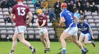 Galway v Laois Allianz Hurling League Division 1B Round 1 game at the Pearse Stadium.<br /> Davey Glennon scoring Galway goal.