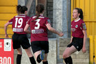 Galway Women's FC v Wexford Youths Só Hotels Under 17 Women's National League Final at Eamonn Deacy Park.<br /> Annie Gough celebrates after scoring Galway Women's FC first goal.