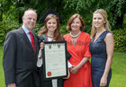 Dr Alice Meagher of Clybaun Surgery, Knocknacarra, pictured with her parents Dr Patrick and Catherine Meagher, and her sister Dr Ciara Meagher, after she was conferred with the degrees of Honours Bachelor of Medicine, Bachelor of Surgery and Bachelor of Obstetrics (MB BCh BAO) at NUI Galway.