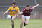 Galway v Roscommon Connacht Under 20 Football sem-final at Tuam Stadium.<br /> Galway's Cein D'arcy and Roscommon's D Duff