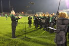 Brendan O'Connor conduction Cois Cladaigh at the Heineken Cup Connacht v Toulouse game at the Sportsground.