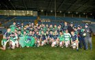 Oughterard v The Neale Connacht Intermediate Cup final at MacHale Park, Castlebar.<br /> Oughterard celebrate