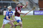 Galway v Laois 3rd round game in the Allianz National Hurling League at the Pearse Stadium.<br /> Galway's Padraic Mannion and Ross King, Laois
