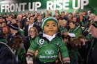 7 months old Zephaniah Ah You, son of Connacht player Rodney Ah You, at Saturday evening's Heineken Cup game against Toulouse at the Sportsground.