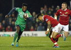 Connacht v Munster Guinness PRO12 game at the Sportsground.<br /> Connacht's Niyi Adeolokun