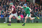 Galway v Limerick Allianz Hurling League semi-final in Limerick.<br /> Galway's Cathal Mannion and Limerick's Richie McCarthy
