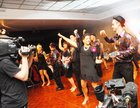 <br /> Dancing at Strickley Come Dancing in aid of Ballinderreen National School in the Clayton Hotel.