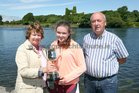 Ellen Forde of Colaiste Iognaid Rowing Club, winner of the Junior 16 Sculls event at the Galway Regatta, pictured with her grandparents Bridie and Willie Forde.