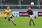 Galway v Roscommon Minor Football semi-final at the Pearse Stadium.<br /> Galway's Padraic Costello and Roscommon's Evan Flynn