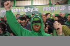 Connacht supporters at Saturday evening's Heineken Cup game against Toulouse at the Sportsground.