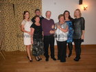 Knocknacarra Hockey Club Surprise Thank You Party for Ciaran Delaney held in the Hotel <br /> Clybaun on Saturday 26th of November 2011.<br /> <br /> Left to Right : Ciara Delaney, Avril Delaney, John Delaney, Ciaran Delaney, Pat Fox , Laura Delaney, Anne Marie Delaney.<br />