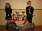 Claire(5) Coolahan from Ballymanagh; Craughwell who won the under 5 Championship at Feile Rince Mhaigheo in Claremorris on October 15th pictured with her brother James(6) who also was a winner in the under 6 Championship. They are pupils of the Brady Scanlon School of Dancing.<br /> <br /> Photo supplied by Karen Coolahan