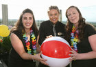 Victoria Ward, Lough Rea Hotel & Spa Sales and Marketing Manager, Caoimhe Gaffney, and Niamh Treacy, Sales Executive, at the Lough Rea Hotel & Spa Corporate BBQ Evening.