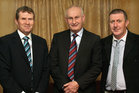 Attending the Killimordaly Hurling Club Social at the<br />  Meadow Court Hotel, (from left),<br />  Michael Haverty, Tommy Daly and Cyril Noone, (members of the 1986 County Senior Hurling Championship winning team).