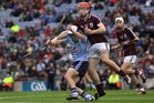 <br /> Galway's, Shane Maloney,<br /> and<br /> Dublin's, Eric Lowndes,<br /> during the All-Ireland Minor Hurling Championship Final.<br />
