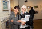 <br /> Louise Hynes, Bushypark and Frances Daly, Knocknacarra, , at the opening of the Joseph Quikty Experimental Burren art Exhibition at the Kenny Art Gallery, Liosban Industrial Estate, Tuam Road.