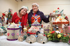 Karen Gale and her mother Carmel Hodsoll from Loughrea at their display of handmade Christmas crafts by Loughrea Resource Centre at the Ballybane Christmas Fair in Ballybane Community Centre in the city last Saturday.