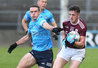 Galway v Dublin Allianz Football League Division 1 Round 7 game at Pearse Stadium.<br /> Galway's Matthias Barrett and Dublin's Brian Fenton
