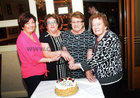 <br /> Cutting the cake Mary Conson, Secretary, Mary Jones Treasurer Mary Alone, President and Kate Carr, at the Mervue Ladies  Social Club Golden Jubilee dinner in the Park House Hotel,