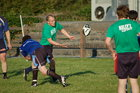 Pictured at the finals of Tag Rugby 2011 at Corinthian Park on Friday 22 July<br /> <br /> Action from the A League match Dirty Dozen v Kelly's Heroes