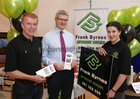 Frank Byrnes, Frank Byrnes Autobody Repairs, Dermot Comerford, Manager, Maldron Hotel, Oranmore, and Laura Byrnes at Oranmore Enterprise Town Business, Sports and Community Expo, hosted by the Bank of Ireland at Calasanctius College last weekend.