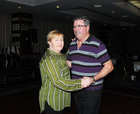 <br /> Rosaleen and Liam Larkin, Bullaun, dancing  at the Parkinsons Association  St. Patricks Night Ceili in the Clayton Hotel.