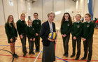 Sr. Bosco Casey with St Raphaels College First Year students Lisa Klampe, Rebecca Keane, Jane Doheny, Ella Lynam, Moya Connaire, Emma Kearney and Ailís Naughton.