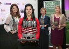 Avril Smith (Winner of the 'Retail' category sponsored by Galway Bay FM and overall winner of the Gradam) with the category winners, Loretta Ní Ghabháin, Lorg Media (Winner of the 'Services' category sponsored by Snap Galway), Claudia McCarthy, Carey Building Contractors (Winner of the 'Other Companies' category urraithe ag Acadamh na hOllscolaíochta Gaeilge, OÉ Gaillimh) and Emma Dillion-Leetch, The Connacht Hotel (Winner of the 'Tourism &amp; Hospitality' category sponsored by Fáilte Ireland) at the Gradam Sheosaimh Uí Ógartaigh awards ceremony which took place in the Salthill Hotel, Gaillimh.<br />
