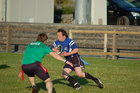 Pictured at the finals of Tag Rugby 2011 at Corinthian Park on Friday 22 July<br /> <br /> Dave 'Gizmo' Barden of Dirty Dozen in action against Kelly' Heroes in the A League