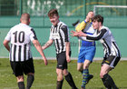 Loughrea v Galway Hibs at Bohermore.<br /> John Kennedy, centre, celebrates after scoring a goal for Galway Hibernians