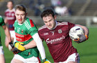 Galway v Mayo FBD Insurance Connacht Football competition 2020 semi-final at MacHale Park, Castlebar.<br /> Galway's Cillian McDaid and Mayo's Brian Walsh<br /> <br />