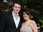 <br /> Peadar O'Griofa, Inverin and Cliodhna Griffin, Carraroe, at the Colaiste Colm Cille Debs Ball in the Westwood House Hotel.
