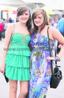 Clara O'Brien and Louise Naughton, both from Turloughmore, pictured at Ladies Day at the Galway Races.